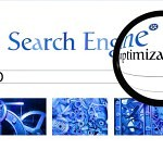 picture of search engine home page through a magnifying glas